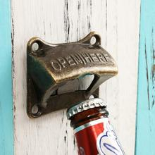 Opener-Bar-Accessories Soda Bottle Beer-Opener Wine Rustic-Cast Durable Cap Wall-Mounted