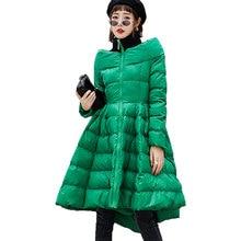 Oversize Coat Winter Coat Women Maxi Dress Style Embossed Cotton Winter Jacket Women Black Dress Parka Female Manteau Femme L535