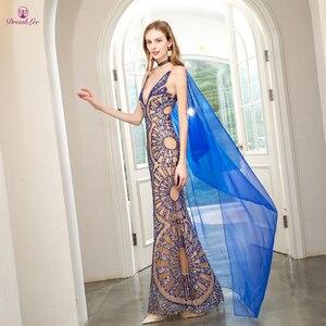 Image 4 - Vestido de fiesta de sirena con perlas de cristal, brillante, Dubái