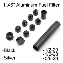 """6"""" 11 Pcs Fuel Filter Solvent Trap Aluminum Cups 1X6 Inch for NAPA 4003 WIX 24003 1/2 28 5/8 24 1/2 20 for Cars Filters"""