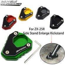 Kickstand-Parts Ninja ZX25R Motorcycle Kawasaki for Enlarge Side-Stand CNC Aluminum