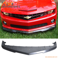 Fit Voor 2010 2011 2012 2013 Chevrolet Camaro Voorbumper Lip Unpainted Black - Poly Urethaan