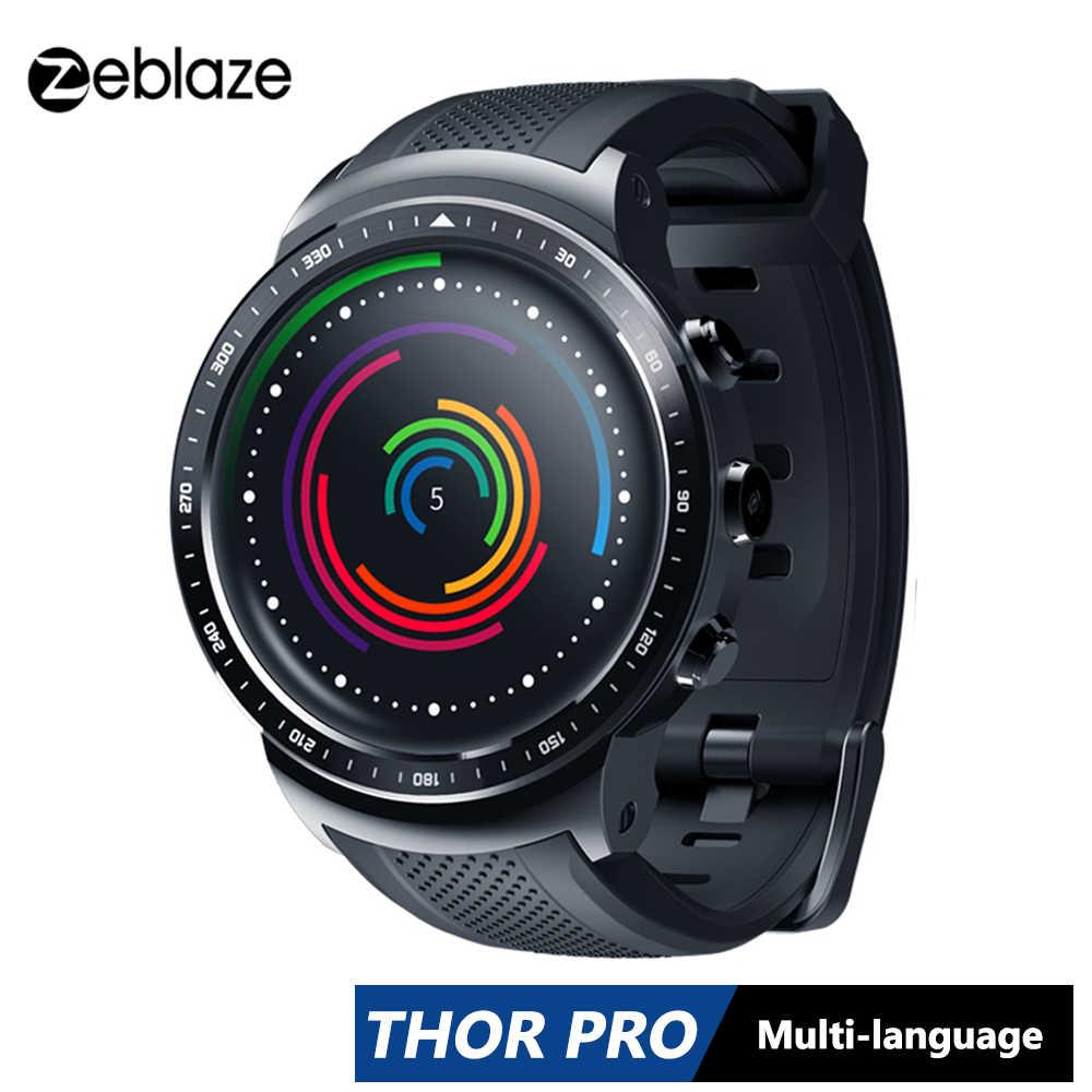 Zeblaze Thor PRO 3G GPS Smartwatch 1.0GHz 1.53 pouces 1GB + 16GB Android 5.1 météo moniteur de fréquence cardiaque mince Sport montre intelligente téléphone