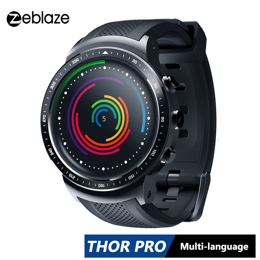 Zeblaze Thor PRO 3G GPS Smartwatch 1.0GHz 1.53inch 1GB+16GB Android 5.1 Weather Heart Rate Monitor Slim Sport Smart Watch Phone