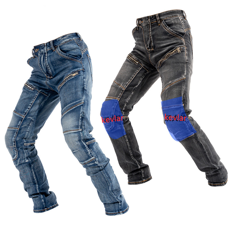 2020 New Kevlar Motorcycle Pants Riding Jeans Outdoor Riding Pants Trousers Anti-fall Zipper Hidden Pad Racing Jeans