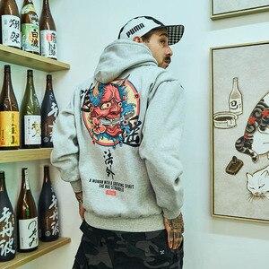 Image 5 - 힙합 망 까마귀 스웨터 유령 한자 인쇄 하라주쿠 까마귀 Streetwear 2020 가을 캐주얼 블랙 풀오버 코튼