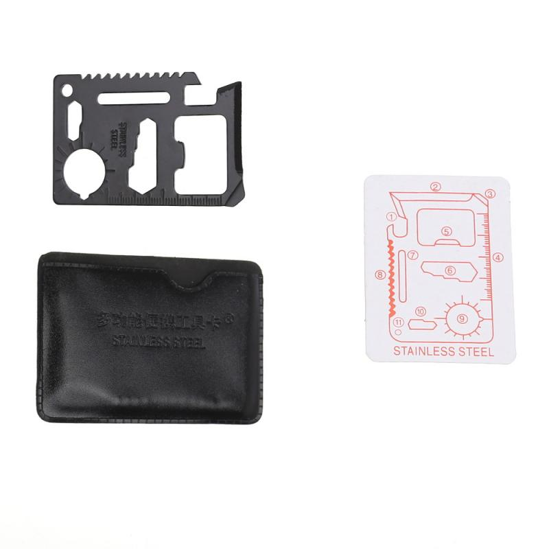 Multi-function Mini Outdoor Edc Portable Pocket Tools Creative Multi-Function Combination Tool Stainless Steel Wallet Card Knife