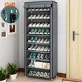 Многоуровневая сборная стойка для обуви, пыленепроницаемый шкаф для обуви, подставка для обуви, полка для хранения в общежитии, органайзер, ...