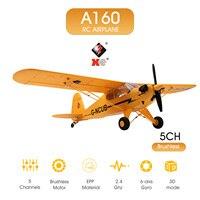 Avión teledirigido A160 para adultos, avión teledirigido de 5 CANALES, sin escobillas, acrobático, 3D, 6G, modo al revés, regalo, Juguetes