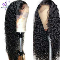 Brazilian Water Wave Wig 13*4 Lace Front Human Hair Wigs Pre Plucked Natural Hairline 150% Remy Hair Wigs Modern Show Hair