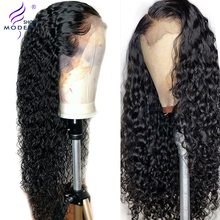 Wig Human-Hair-Wigs Hairline Water-Wave Lace-Front Pre-Plucked Natural Modern Brazilian