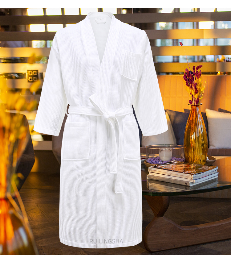 5 Star Hotel 100% Cotton Men Kimono Bathrobe Plus Size Towel Bath Robe Mens Waffle Robes for Women Long Dressing Gown Sleepwear