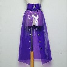 Skirt Spring Female New PVC Transparent Skirt Korean A Word