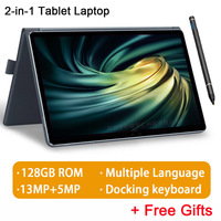 2020 Full New 128GB ROM 11.6 inch 2 in 1 Tablet Android MT6797 10 cores gaming pc Tablets 4G call laptop Tablet with Keyboard