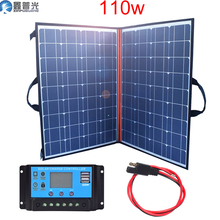 110w 12v/18v Flexible Foldable Solar Panel home kit 100 w Portable Charger power system 5v USB for Phone battery RV Car Camping цена и фото