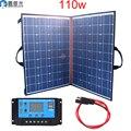 110w 18v/12v paneles solares para el hogar kit plegable flexible de casa 100w cargador portátil sistema de alimentación 5v usb para teléfono celular batería RV Car acampar senderismo barco fotovoltaicos