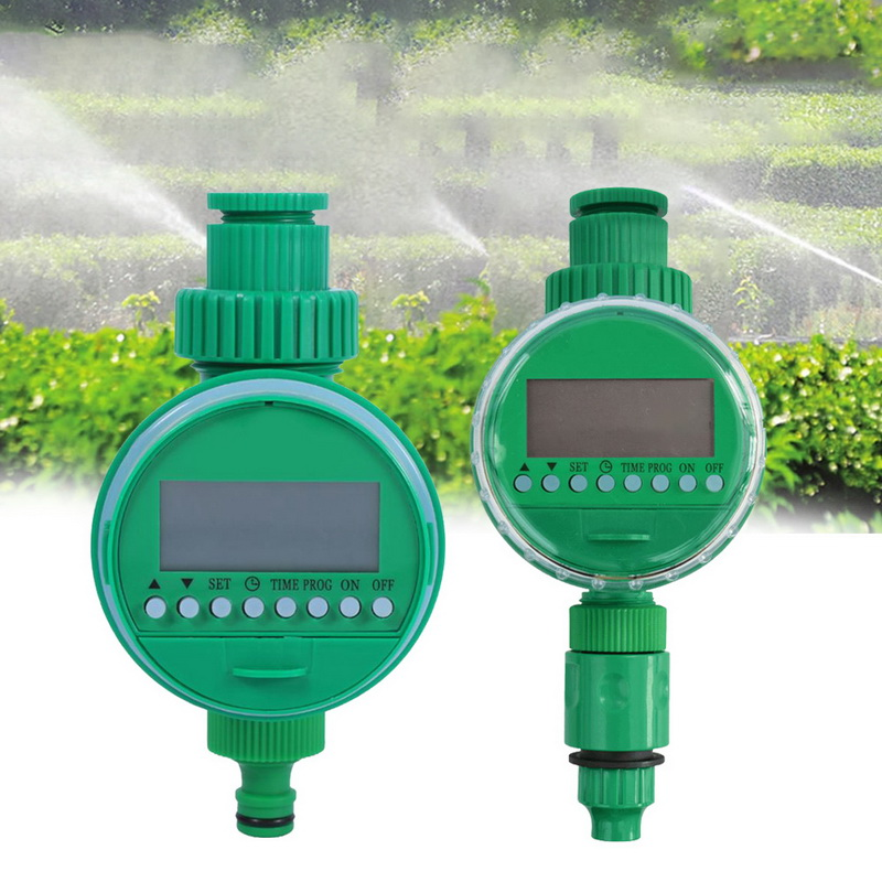 Smart Irrigation Controller LCD Display Irrigation Series Watering Timer Hose Faucet title=
