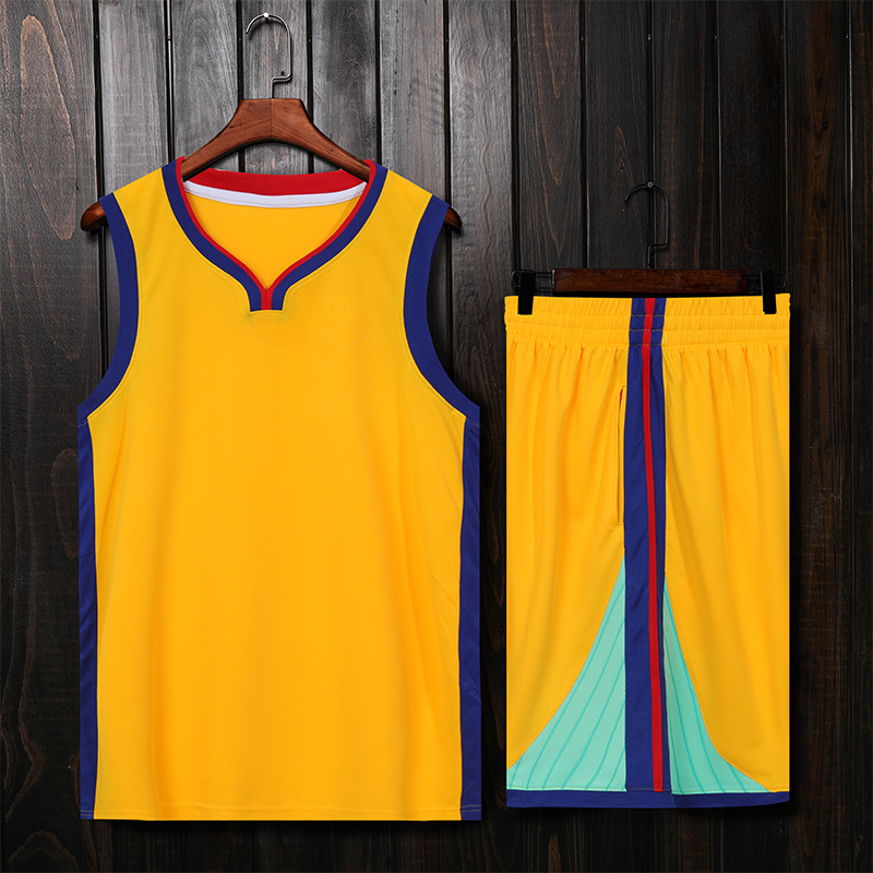 <font><b>Men</b></font> Kids Basketball Jerseys Sets Uniforms Boys Sport Kit Clothing Shirts <font><b>Shorts</b></font> <font><b>Suits</b></font> Customized Training College <font><b>Suits</b></font> Wear image
