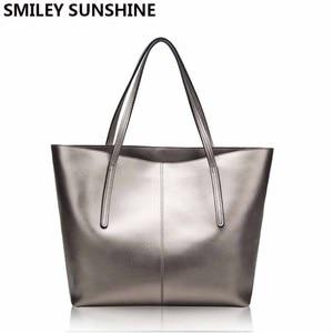 Image 1 - Zilveren Koe Echt Leer Vrouwen Tassen 2020 Grote Handtas Mode Top Handvat Hand Tas Dames Tote Grote Luxe Vrouwelijke schoudertas
