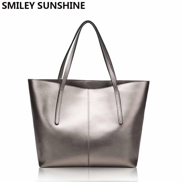 Zilveren Koe Echt Leer Vrouwen Tassen 2020 Grote Handtas Mode Top Handvat Hand Tas Dames Tote Grote Luxe Vrouwelijke schoudertas