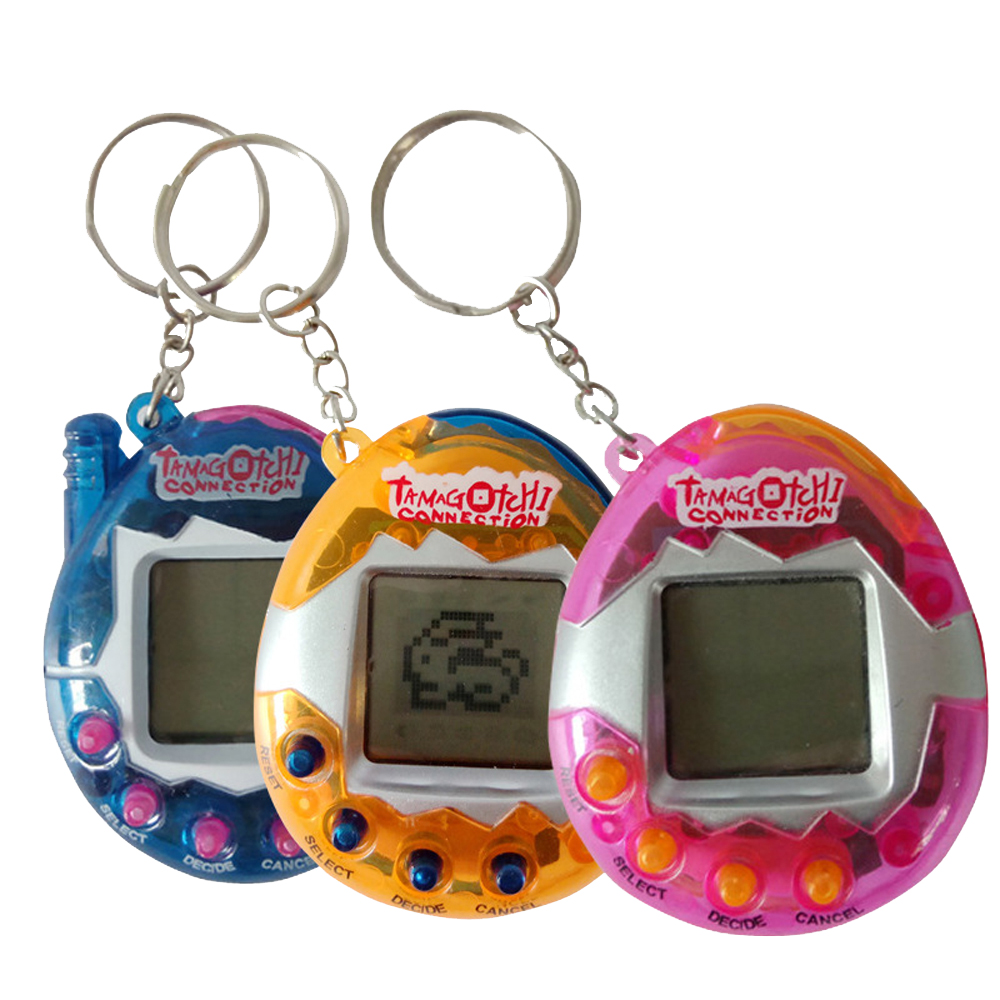 1 шт. прозрачный тамагочи электронные игрушки 90S Ностальгический 49 в одном виртуальной кибер-игрушка виртуальной игрушки электронный робот ...