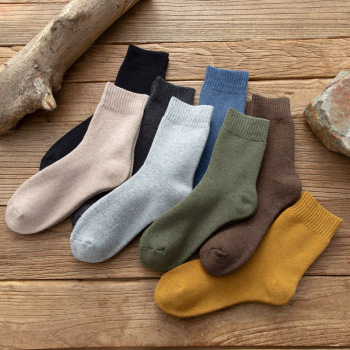 socks men in tube business autumn and winter new Europe America thickened towel snow cotton wholesale