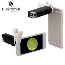 60X-100X оптический зум мобильный телефон светодиодный объектив микроскопа дополнительный универсальный зажим/с или без зажима ручка микроскопа