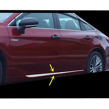 For Toyota Avalon XX50 2018 2019 2020 Car Styling Cover Door Body Trim Strip Molding Stream Lamp Panel Bumper Hoods 4pcs