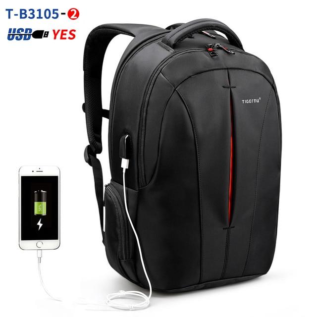 Mochila para ordenador portátil a prueba de salpicaduras 15,6 pulgadas sin llave TSA antirrobo para hombre mochila de viaje para adolescentes mochila para hombre
