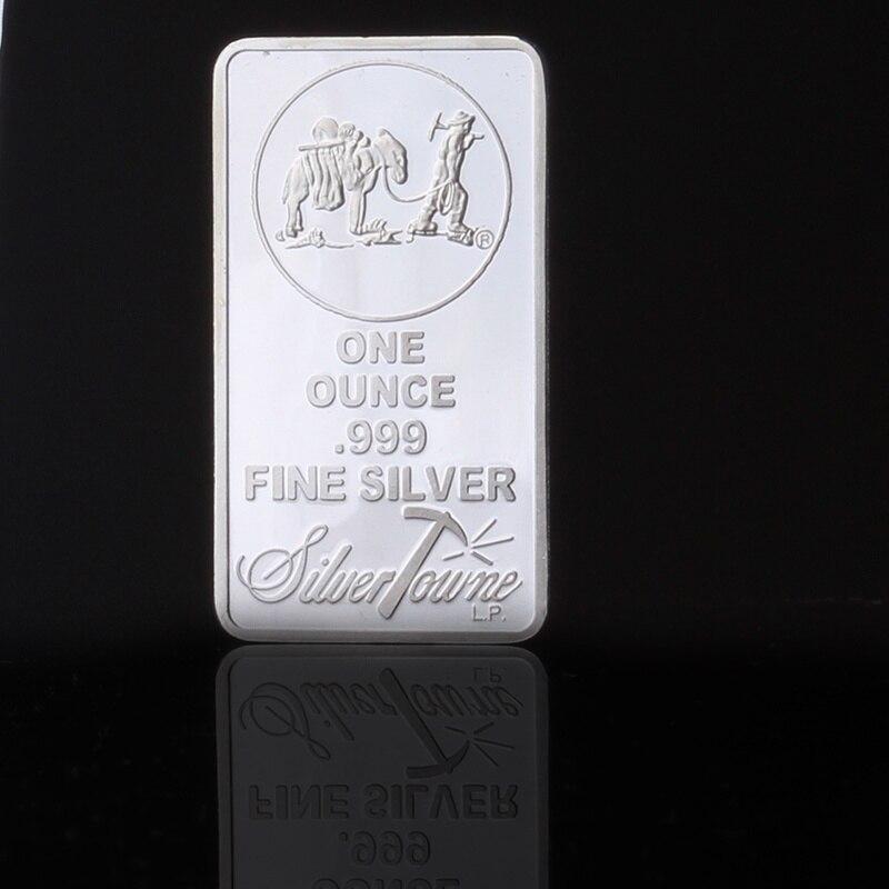 Barra de prata américa uma onça 999 prata fina chapeado moeda barras lembrança moeda