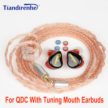 NEW with Tuning Mouth HIFI Earphones IEM 0.78 Resin Earbuds  Dynamic Headset DJ Stage Sports Single Crystal Copper Upgrade Cable