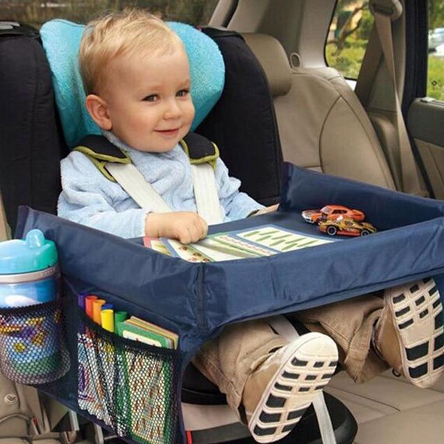 תינוק מכונית מושב מגש עגלת ילדים צעצוע מזון מים מחזיק שולחן ילדי שולחן נייד לרכב חדש ילד שולחן אחסון נסיעות לשחק