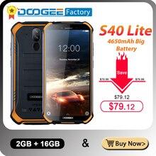 IP68 DOOGEE S40 Lite 5.5 بوصة عرض 2GB 16GB أندرويد 9.0 هاتف محمول وعر 4650mAh 8.0MP كاميرا الهاتف الذكي