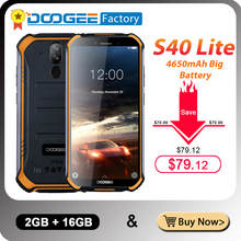 IP68 DOOGEE S40 Lite 5.5 inç ekran 2GB 16GB Android 9.0 sağlam cep telefonu 4650mAh 8.0MP kamera akıllı telefon