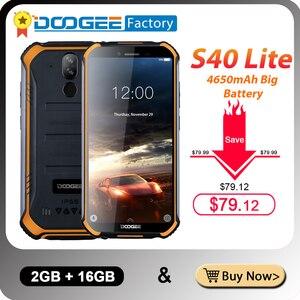 Image 1 - IP68 Doogee S40 Lite 5.5 Inch Display 2Gb 16Gb Android 9.0 Robuuste Mobiele Telefoon 4650Mah 8.0MP Camera smartphone