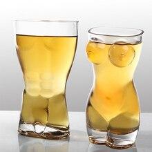 Сексуальные мужские и женские прочные бокалы для виски с двойными стенками, бокалы для виски, бокалы для вина, креативная форма для тела, стеклянная чашка, большая грудь, пивная чашка