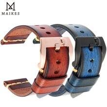 Ремешок для часов maikes из натуральной кожи винтажный итальянский