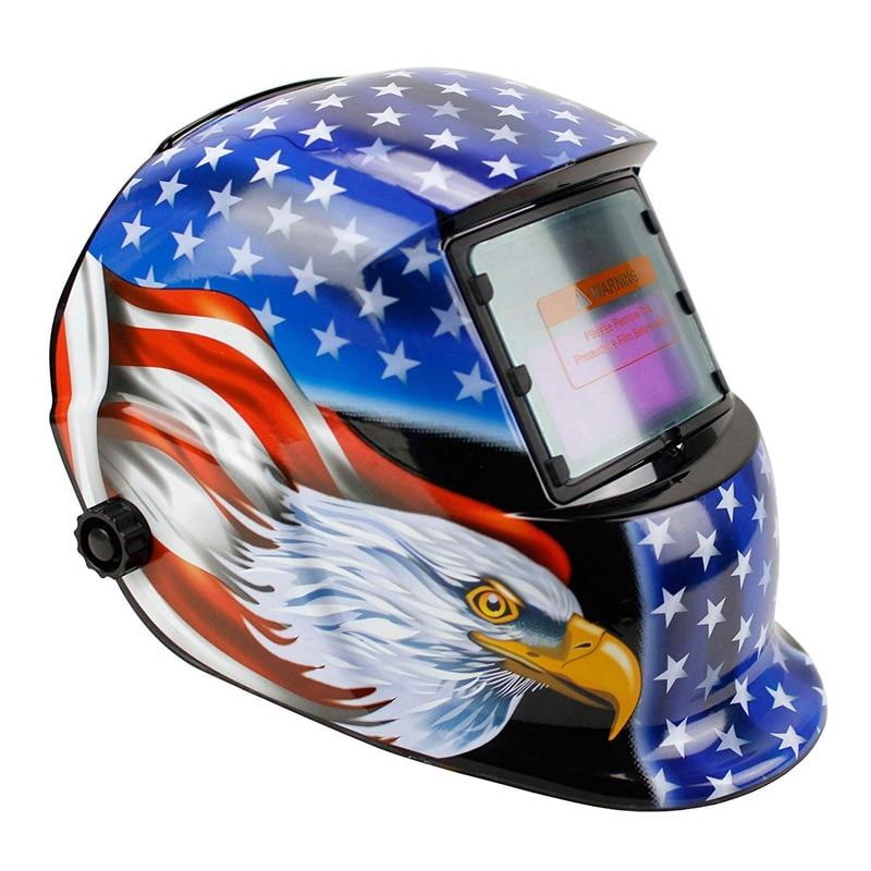 13 With Solar For 4 Mask Helmet Darkening Range Hood Arc  Powered  Shade Eagle Mig Tig Blue Welding Adjustable Auto 9 Welder