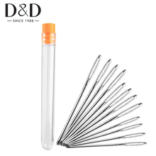 9pcs Large Eye Sewing Needle Stainless Steel Stitching Needle