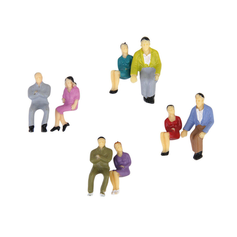 50Pcs Scale All Seated Painted People Figures 1:50 Model Sitting Passengers