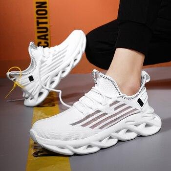 Zapatillas deportivas transpirables para Hombre, calzado De estilo masculino, color blanco, 2020