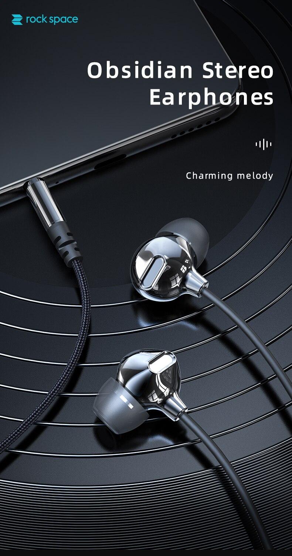 Rock Space Obsidian Stereo Earphones 3
