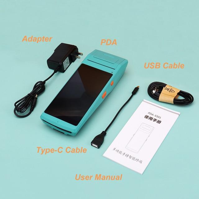 Android PDA Handhled reçu autocollant imprimante POS Terminal 58mm imprimante d'étiquettes thermiques Bluetooth NFC 3G FRFE SDK collecteur de données 6