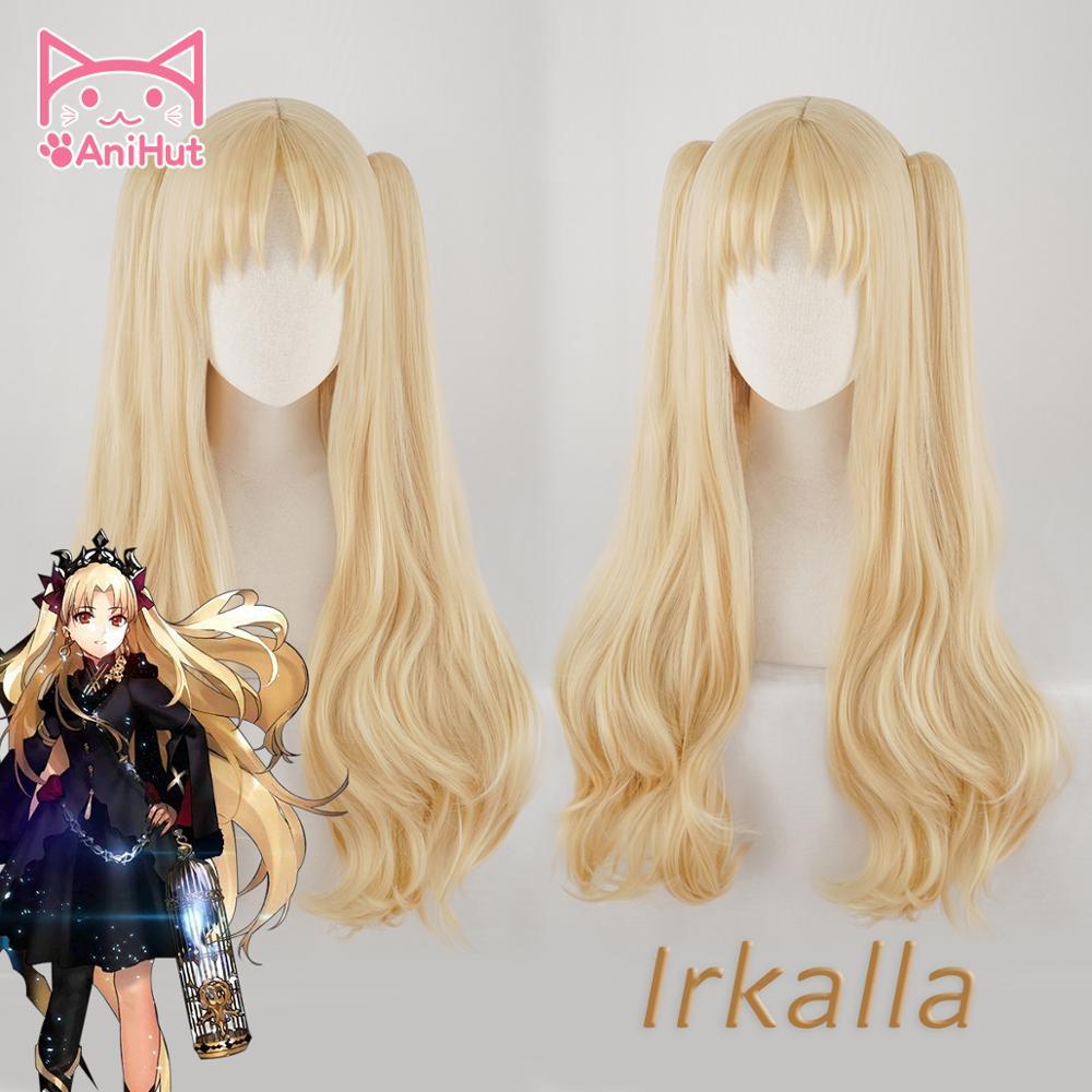 Anihut irkalla ereshkigal peruca fate grande encomenda cosplay peruca encaracolado luz cabelo loiro anime destino grande encomenda perucas cosplay feminino