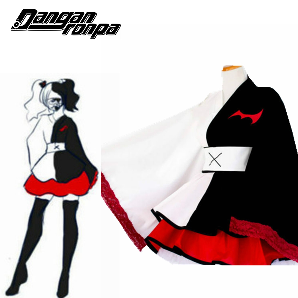 Danganronpa Monokuma Cosplay Pinafores Kimono Female Dresses Halloween Cosplay Csotume Custom Sizes