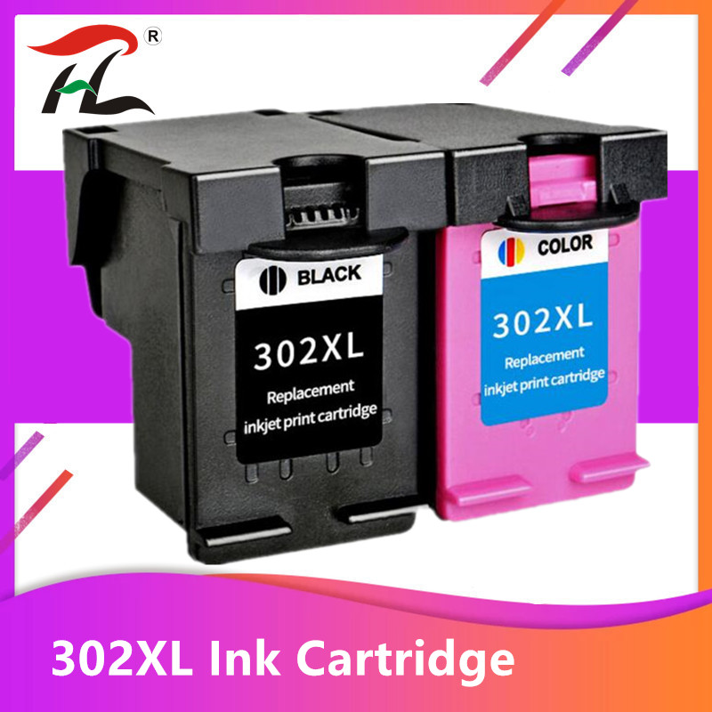 Compatible 302XL Ink Cartridge For HP 302 XL For Hp302 For HP Deskjet 2130 2135 1110 3630 3632 Officejet 3830 3834 4650