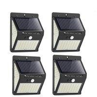 20/100/144 LED Solar-Led-Licht Outdoor Lampe PIR Motion Sensor Wand Lichter Leuchte Wasserdichte Solar Powered für Garten straße Lampe