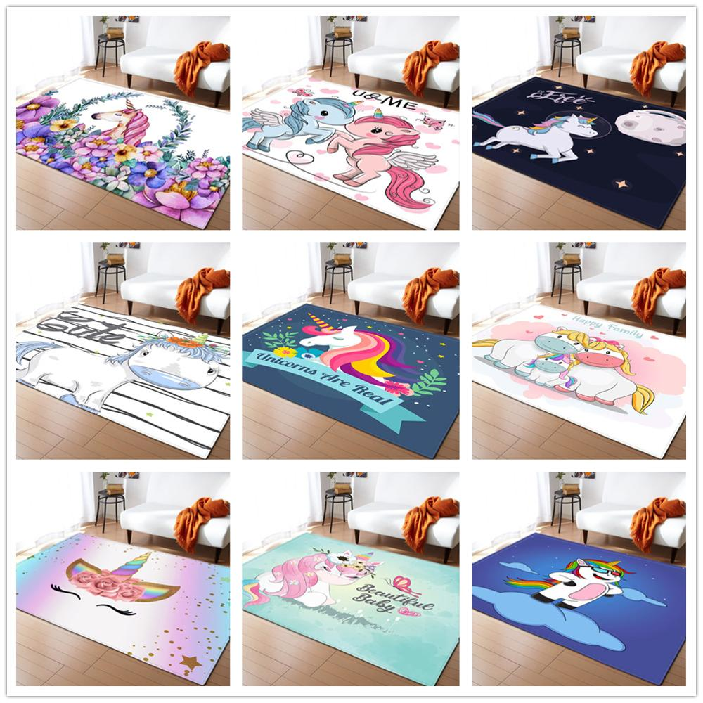 17 Styles Unicorn 3D Printed Child Carpets For Living Room Bedroom Decor Carpet Kids Room Play Soft Rug Baby Crawl Antiskid Mats