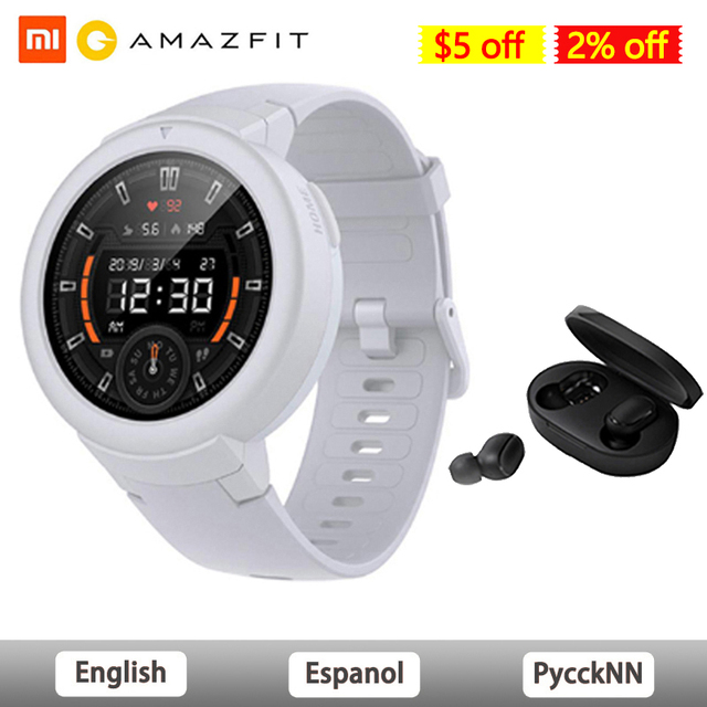 AMAZFIT Verge Lite Smart Watch Global Version IP68 Waterproof Multi Sports Smartwatch Bip 2 GPS Health Tracker