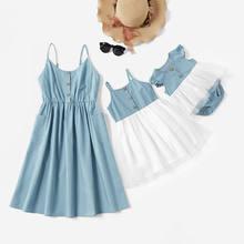 2020 летнее кружевное платье для мамы и дочки детский комбинезон